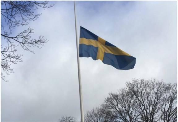 Flagga halv stång
